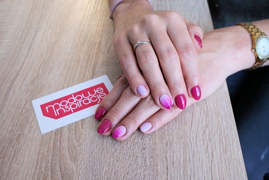 geometryczne ombre manicure