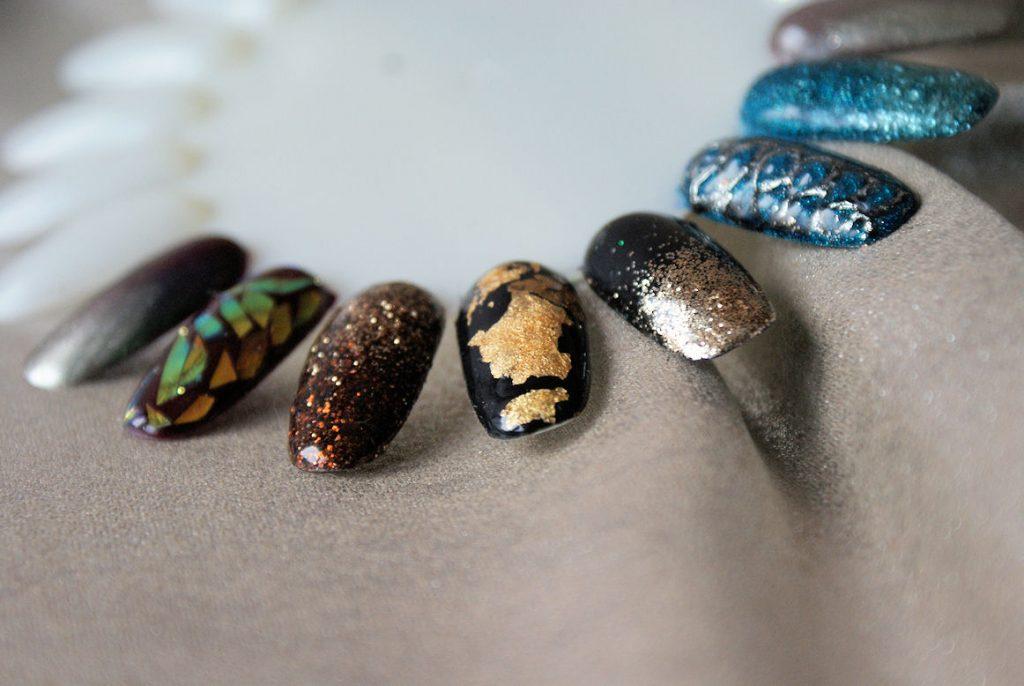 pomysly na manicure sylwestrowy