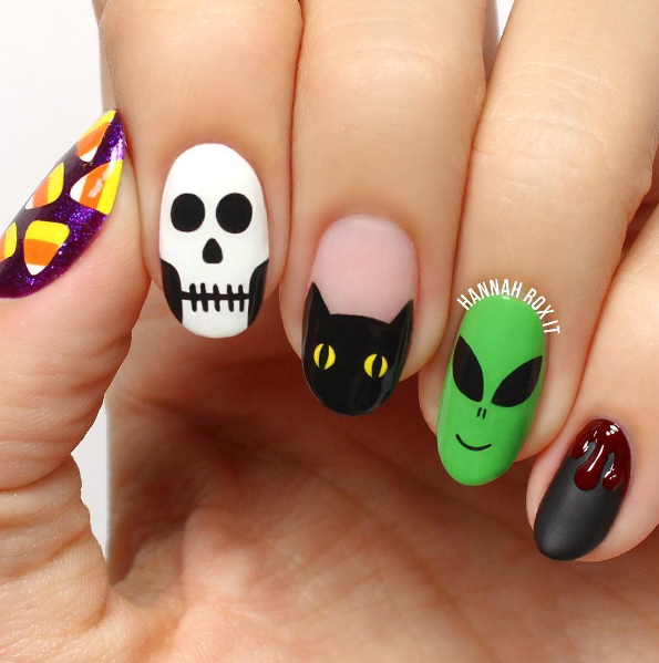 paznokcie na halloween 4